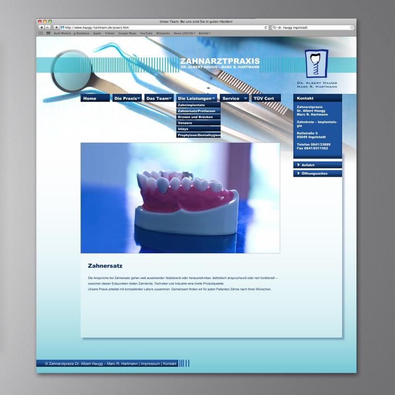 Webseite Dr. Haugg