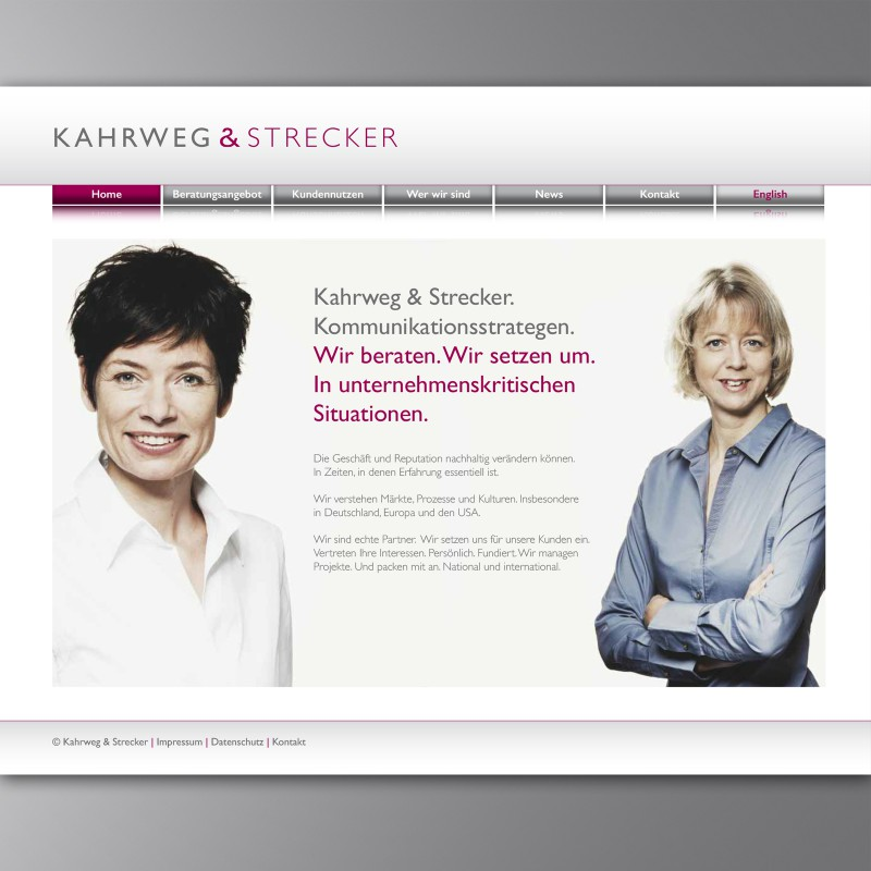 Webseite Home Kahrweg & Strecker