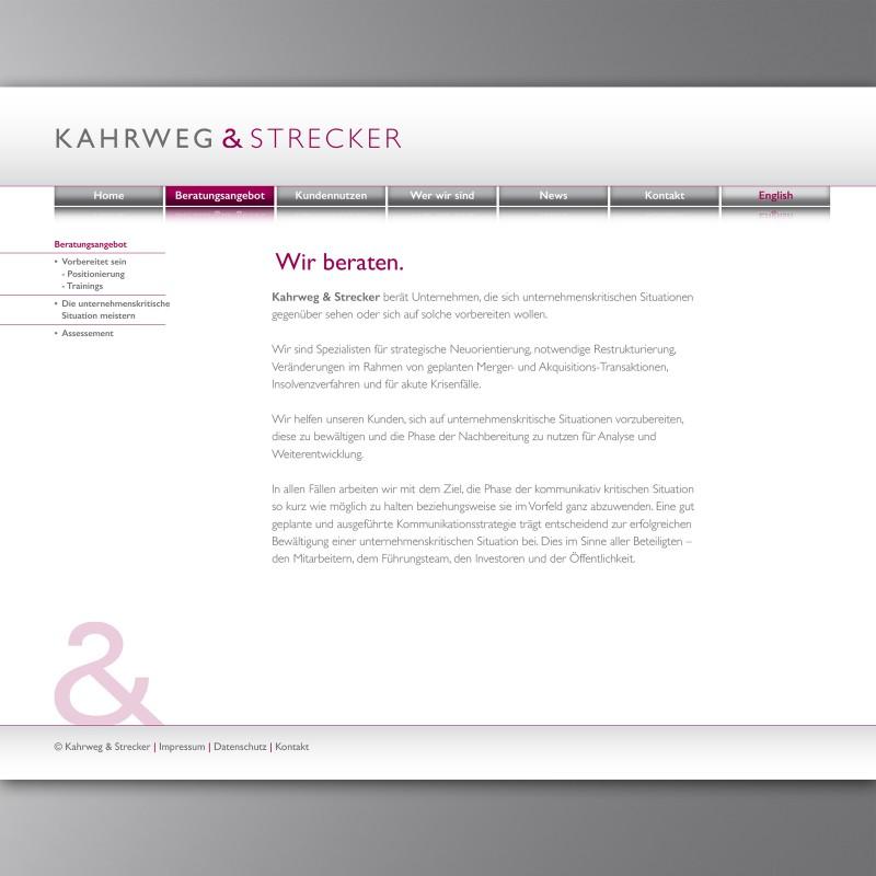 Webseite Kahrweg & Strecker