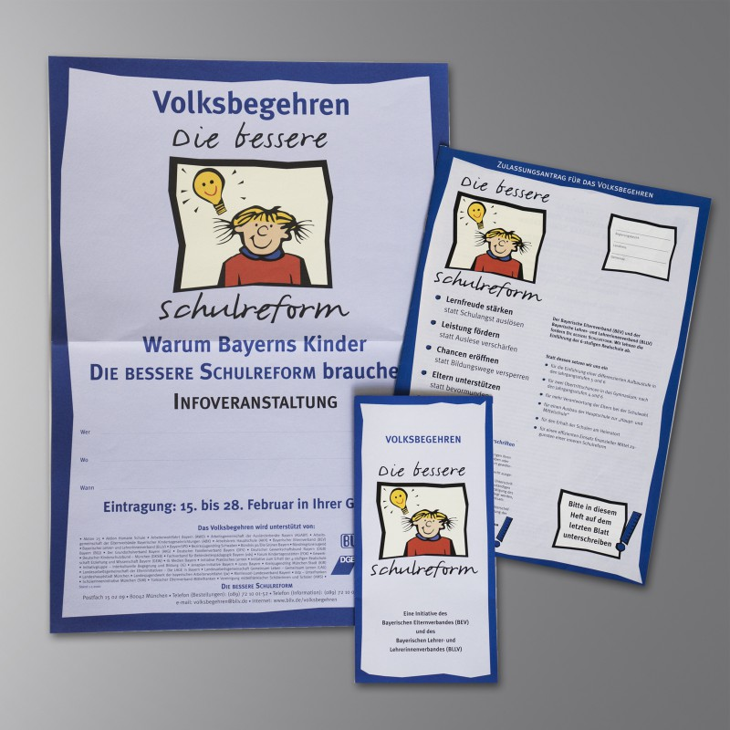 Plakat Die bessere Schulreform