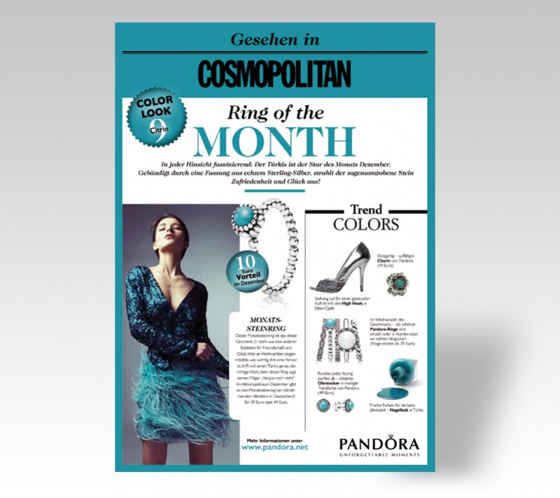 Promotion Cosmopolitan Pandora